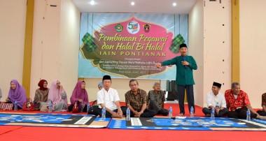 Gelar Halal Bihalal, IAIN Launching Desain Website Baru dan Pembinaan Pegawai