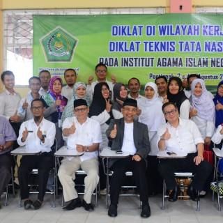 Pusdiklat Gelar Diklat Teknis Tata Naskah Dinas DDWK di IAIN Pontianak