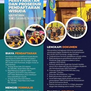 Informasi Pelaksanaan Kegiatan Wisuda Semester Ganjil Tahun Akademik 2017/2018